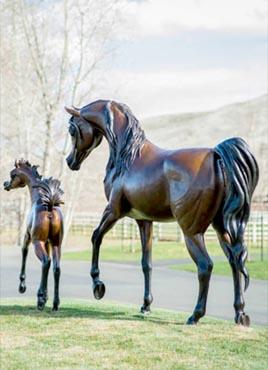 Life-size Bronzes