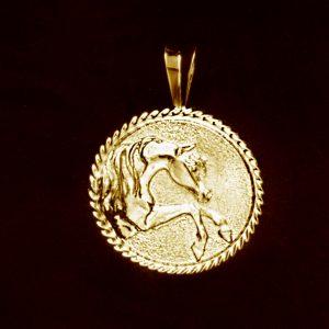 Cavalier 14 kt. Gold Pendant