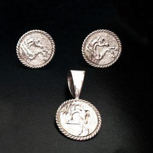 Cavalier 3/4″ Sterling Silver Set