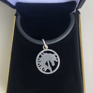Equine Heart Sterling Silver Pendant