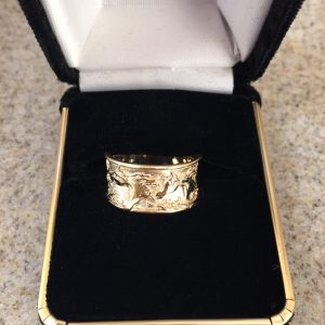 Montage 14 kt. Gold 3/8″ wide Ring