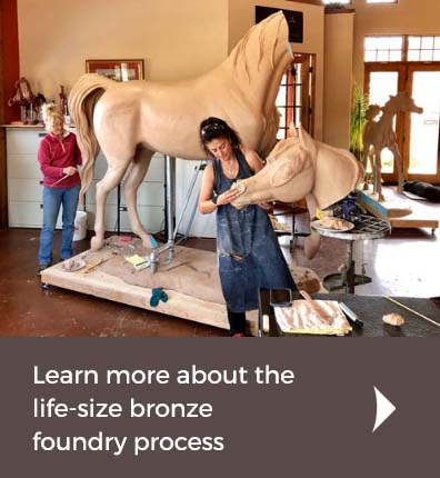 Life-size Bronze Foundry Process
