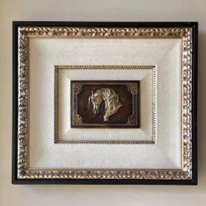 Gift of Love Framed Bronze Relief
